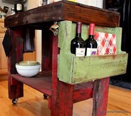 Pallet Kitchen Island by Whisperwood Cottage 10 Unique Kitchen Island Ideas