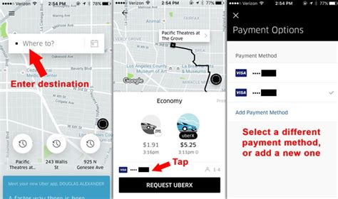 Does Uber Have Gift Cards - uber payment options how to select a different credit card ridesharing driver