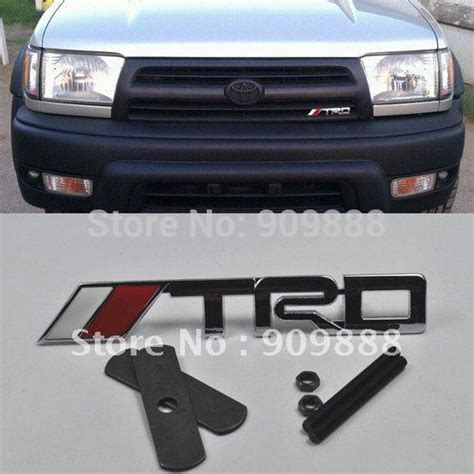 Grill Emblem Grill Trd Crome new trd logo chrome metal 3d grill badge grille emblem for toyota camry scion tc on aliexpress