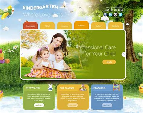 Preschool Themes By Price Low Gridgum Playgroup Website Templates