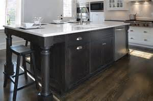 Black Kitchen Island by Transitional White Kitchen W Black Island Transitional