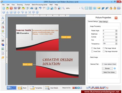 business card template software business card design software business cards designer