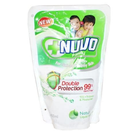 Sabun Nuvo 250 Ml nuvo liquid soap pouch hijau 450ml