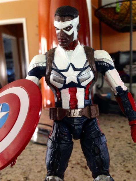 Army Sam Wilsons Captain America Print T Shirt l a s shop customs new sam wilson aka falcon captain