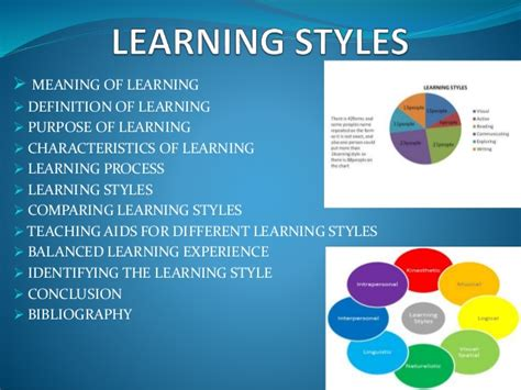 definition of style 2 learning styles