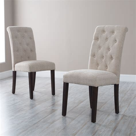 morgana tufted parsons dining chair set   dining chairs  hayneedle