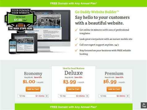 design menu godaddy godaddy website builder review affiliate 101
