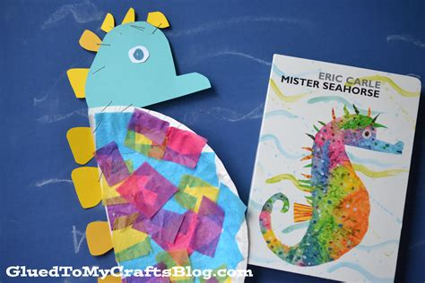 Seahorse Paper Plate Craft - paper plate seahorse kid craft