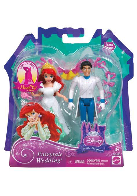 Wedding Magic Clip Dolls by Fairytale Wedding Ariel Prince Eric Magiclip Dolls