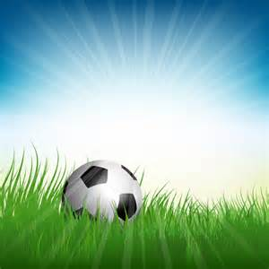 football ball on a field vector free download