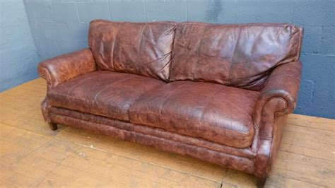 vintage cigar leather sofa grand cigar brown antique leather sofa smethwick