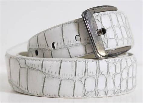 d104 mens designer style alligator white matte leather