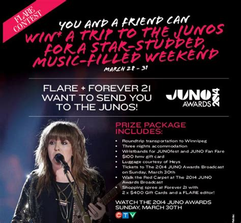 Win Forever 21 Gift Card 2014 - flare forever 21 win a trip to the junos deals from savealoonie