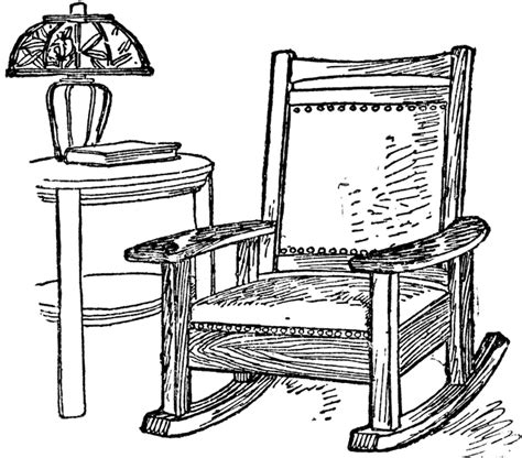 Arm Of Chair Rocking Chair Clipart Etc