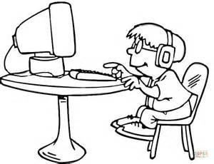 Coloriage Petit Gar 231 On Qui Joue Sur L Ordinateur Play Coloring Games L L L L L L L L L L L