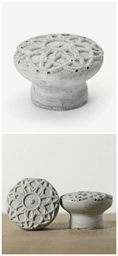 round concrete top scarlett starburst concrete knobs 2 pack round top