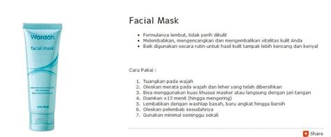 Wardah Mask wardah halal cosmetics