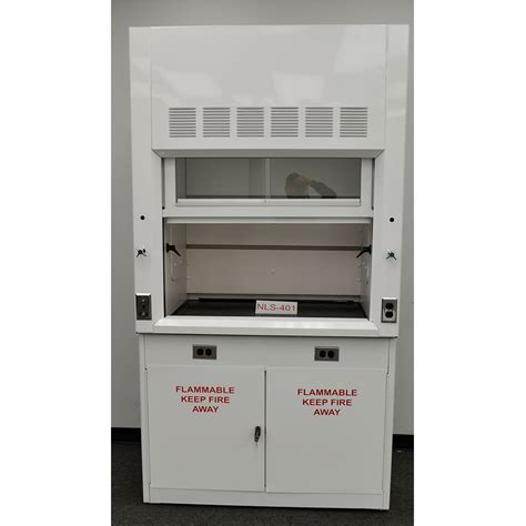lab fume hood exhaust fans 4 chemical fume hood w flammable base cabinet new nls