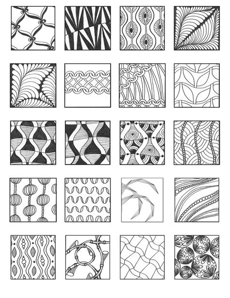 doodle patterns for beginners simple zentangle patterns for beginners www pixshark com