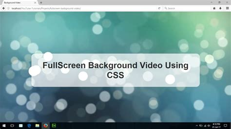 background video css fullscreen background video using css3 html5 html css