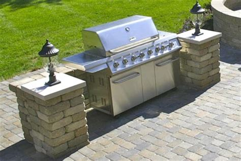 outdoor accessories design slide in grill stations hardscape accessories for your
