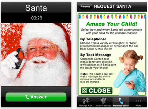 a phone call from santa