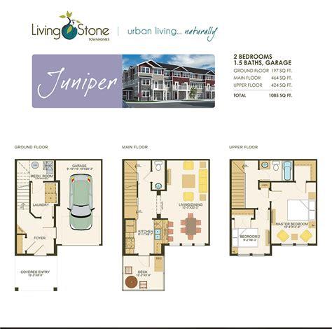 juniper floor plan floor plans living townhomes
