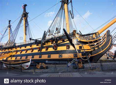 starboard side of boat starboard side view of nelsons flagship hms victory