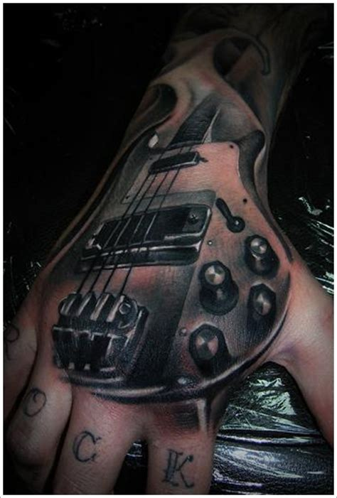 bass guitar tattoo 24 great guitar designs tribal guitar bass