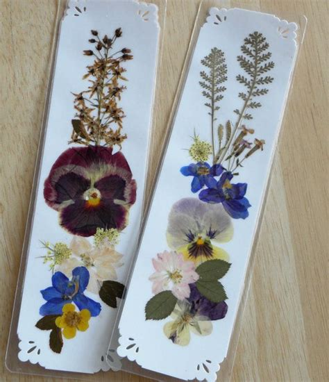 Cool Handmade Bookmarks - 188 best pressed flowers images on