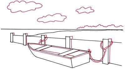 how to draw a rowboat how to draw a rowboat at a seawall how to draw a rowboat
