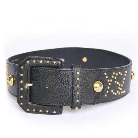 vintage yves laurent studded belt size 70fr in black