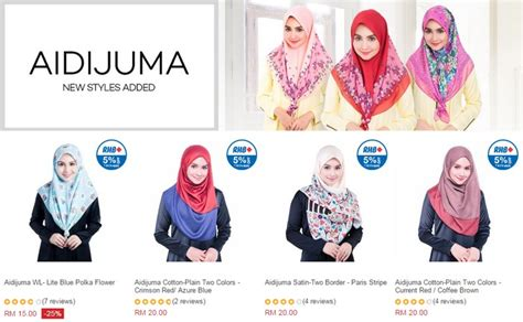 online beli malaysia beli tudung bawal aidijuma terbaru online ecommerce in