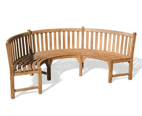 circle bench henley teak curved garden bench semi circle bench