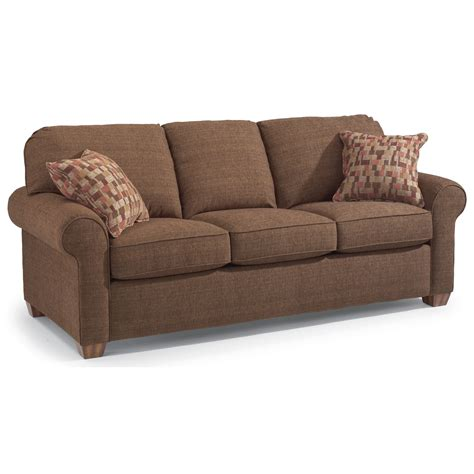 flexsteel thornton stationary upholstered sofa olinde s