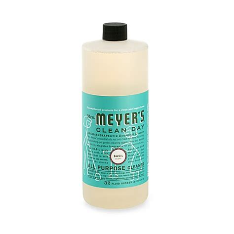 meyers bathroom cleaner mrs meyer s 174 clean day basil 32 ounce all purpose cleaner