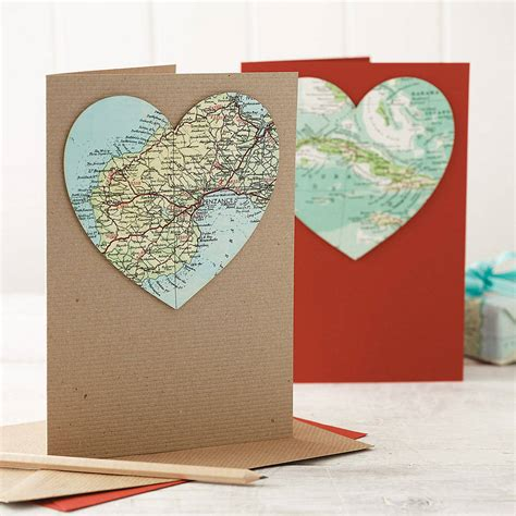 map card personalised map location wedding engagement card by