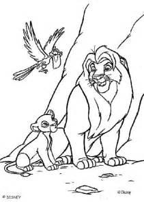 lion king zazu coloring pages mufasa simba and zazu coloring pages hellokids com