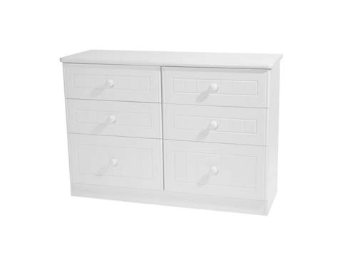 Childrens White Drawers by Warwick Childrens 6 Drawer Wide Chest Uk Delivery