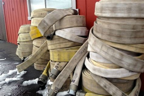 company turns retired fire hoses  mats furniture