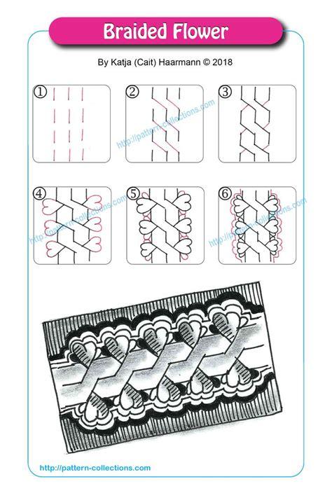 zentangle braid pattern 2994 best zeichnen zentangle images on pinterest
