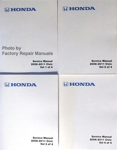 2006 2011 honda civic factory shop service manual set gas models factory repair manuals