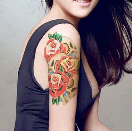 sexy body tattoos temporary sticker snake skull arm