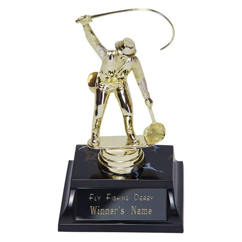 figure fishing golden figure fly fishing trophy