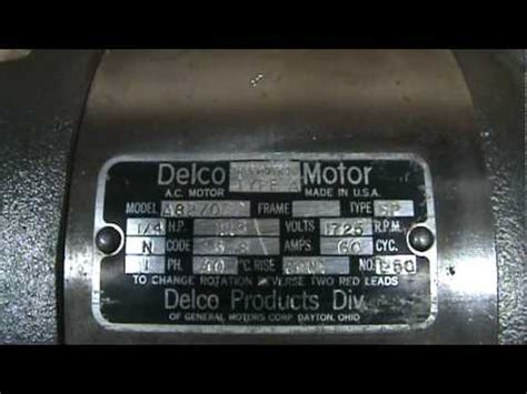 delco electric motor