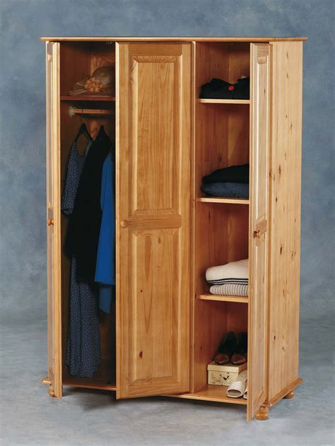 nankang four mobile wood bedroom furniture wardrobe oak sol wardrobe in antique pine finish with 3 doors 1648