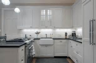 White Kitchen Cabinets With White Spring Granite » Home Design 2017