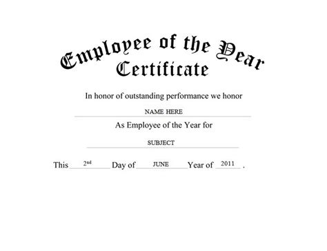 employee of the year certificate template free awards certificates free templates clip wording