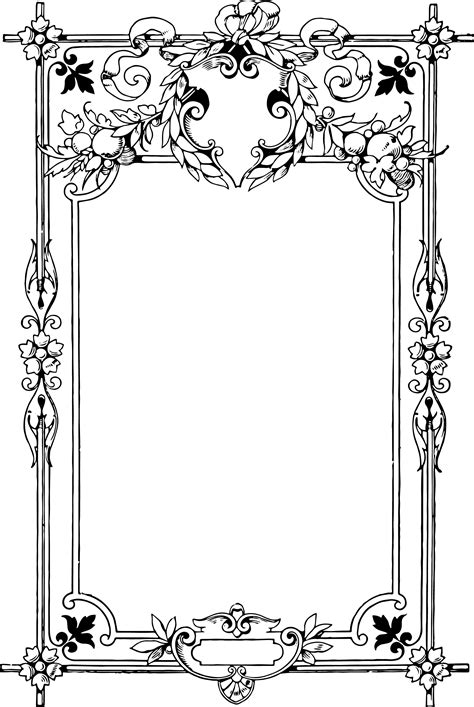 frame pattern clipart gorgeous clip art border frame oh so nifty vintage graphics