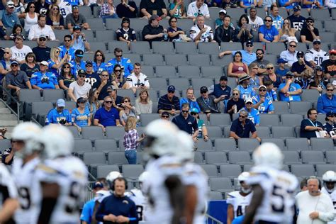 san diego chargers attendance rams chargers post embarrassing attendance numbers in